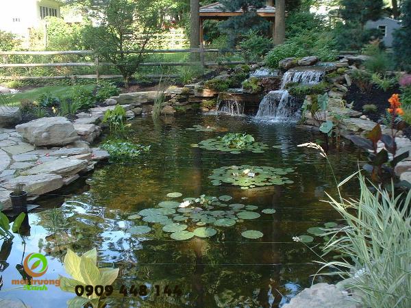 thác nhân tạo sân vườn
